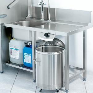 Стол входной для машин посудомоечных GS500, STR, MTR, L1.20м, 1 борт, 1 полка перфорированная, 4 ножки, мойка 500х400х250мм, правый, нерж.сталь