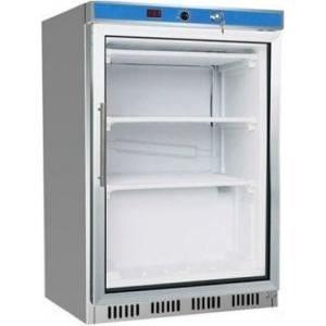 Шкаф морозильный,  129л, 1 дверь стекло, 3 полки, -18/-22С, стат.охл., белый, обогрев стекла, R404а