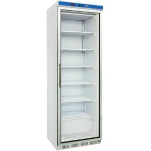 Шкаф морозильный,  361л, 1 дверь стекло, 7 полок, -18/-22С, стат.охл., белый, обогрев стекла, R404а