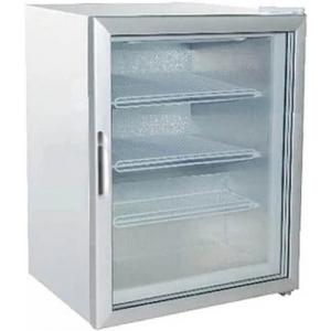 Шкаф морозильный,   88л, 1 дверь стекло, 3 полки, -18/-22С, стат.охл., белый, R134а