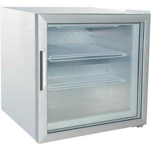 Шкаф морозильный,   48л, 1 дверь стекло, 2 полки, -18/-22С, стат.охл., белый,  R134а