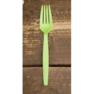 Вилка средняя 162мм повышенной жесткости кукурузный крахмал зелёный