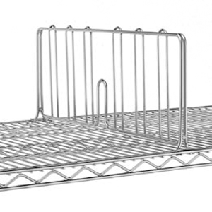 Разделитель решетчатый для полки 457мм, h203мм, сталь с покрытием хромоникелевым, для сухих помещений