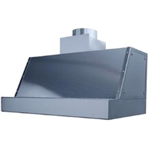 Зонт вытяжной пристенный для гриля на углях Robata Grill L1000, 1200х830мм, кепкой, нерж.сталь, искрогаситель, крепление к стене и потолку