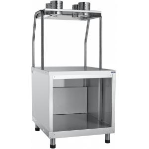 Прилавок для столовых приборов и подносов, L0.63м, кашир. металл «дуб»