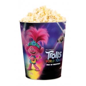 Жестяное ведро для попкорна «Тролли. Мировой тур», 130 унций/3.80л. / Tin bucket 130 oz « Trolls World Tour»