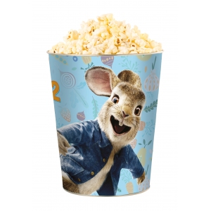 Жестяное ведро для попкорна «Кролик Питер 2», 130 унций/3.80л. /Tin bucket 130 oz «Peter Rabbit 2»