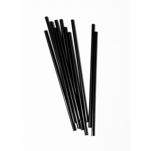 Трубочка-размешиватель для горячих напитков D 4,3мм L 150мм ПП чёрная