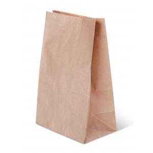 Пакет бумажный 250х120х80мм прямоугольное дно крафт 50г