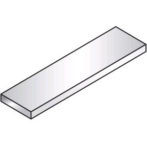 Полка для настольной конструкции, L0.80м, нерж.сталь, без опор, серия SELF 700