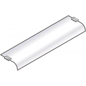 Полка для настольной конструкции, L0.80м, стекло, гнутая с 1 стороны, без опор, серия SELF 700