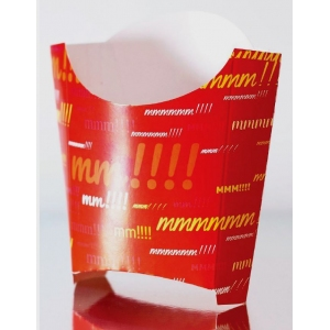 Коробка для картофеля фри 132x40x150мм Emoji бумага