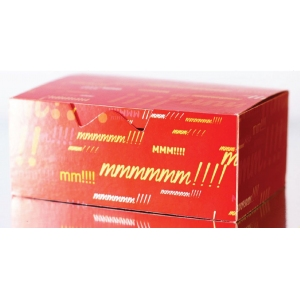 Коробка для наггетсов, крылышек, картофеля фри 350мл Emoji бумага