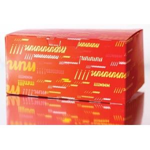 Коробка для наггетсов, крылышек, картофеля фри 750мл Emoji бумага