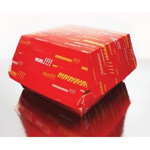Коробка для гамбургера 93x86x74мм Emoji бумага