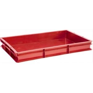Ящик L 60см w 40см h 7,5см сплошной, пластик красный