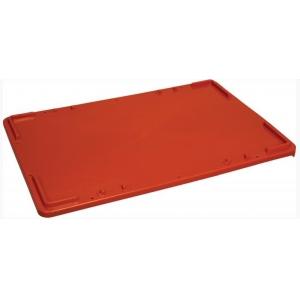 Крышка для ящика L 60см w 40см,  штабелируемая, пластик красный
