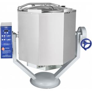 Котел пищеварочный электрический, опрокидывание ручное, 160л, нагрев косвенный, корпус нерж.сталь, миксер, нагрев до +125С