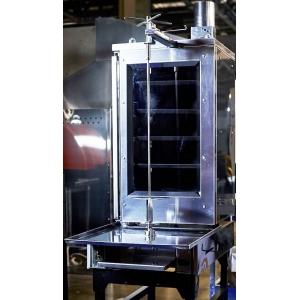 Гриль для шаурмы угольный, 1 вертикальный шампур, электропривод, 5 зон нагрева, нержавеющая сталь
