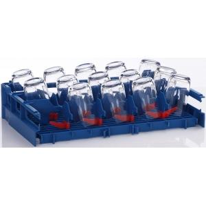 Вставка в посудомоечную корзину 500х500мм для установки стаканов в наклонном положении, двойная, пластик