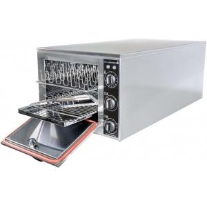 Печь-коптильня электрическая настольная, 1 камера 14кг, электромех.упр., дверь глухая, 4 решётки 300х400мм, нерж.сталь