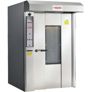 Печь электрическая конвекционно-ротационная, 1 тележка 20/10EN, управление электронное., корпус нерж.сталь, увлажнение, зонт, 1 скорость вент.