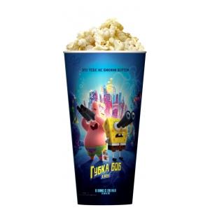 V 24 Стакан для попкорна «Губка Боб в бегах»