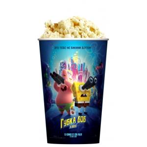 V 46 Стакан для попкорна «Губка Боб в бегах»