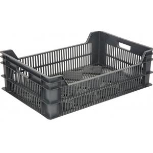 Ящик L 60см w 40см h 13,5 см перфорированный, пластик черный