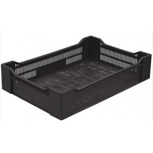 Ящик L 60см w 40см h 19 см перфорированный, пластик черный
