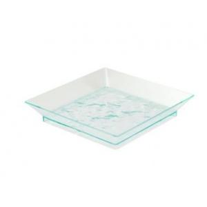 Блюдо L 9см w 9см h 1,7см (набор 200шт) Square, пластик прозрачно-зеленый