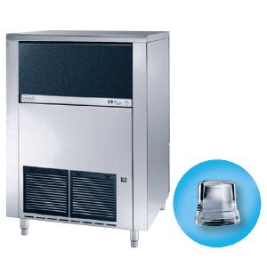 Льдогенератор для кускового льда, 130кг/сут, бункер 65.0кг, вод.охлаждение, корпус нерж.сталь, форма «кубик» A