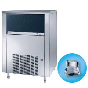 Льдогенератор для кускового льда, 155кг/сут, бункер 65.0кг, вод.охлаждение, корпус нерж.сталь, форма «кубик» A