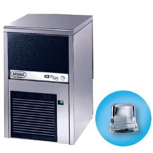 Льдогенератор для кускового льда,  24кг/сут, бункер 6.0кг, вод.охлаждение, корпус нерж.сталь, форма «кубик» A