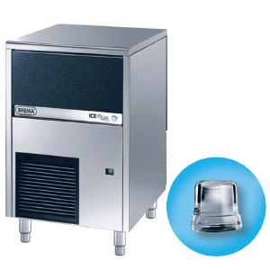 Льдогенератор для кускового льда,  42кг/сут, бункер 16.0кг, вод.охлаждение, корпус нерж.сталь, форма «кубик» A