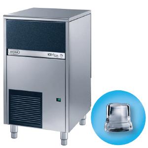 Льдогенератор для кускового льда,  46кг/сут, бункер 25.0кг, вод.охлаждение, корпус нерж.сталь, форма «кубик» A