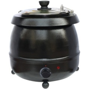 Мармит электрический для первых блюд, 10л, настольный, черный (Уценённое)