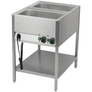 Мармит электрический для вторых блюд, L0.60м, 2GN1/1, нагрев паровой, стенд открытый, 1 полка сплошная, нерж.сталь