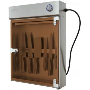 Стерилизатор ножей ультрафиолетовый, настенный, 1 дверь стекло, планка магнитная