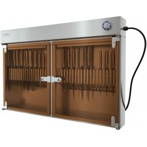 Стерилизатор ножей ультрафиолетовый, вместимость 36шт., настенный, 2 двери стекло, решетка