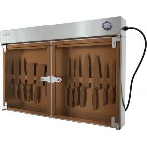 Стерилизатор ножей ультрафиолетовый, настенный, 2 двери стекло, решетка, планка магнитная