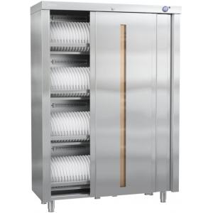Шкаф дезинфекционный для посуды и кухонного инвентаря, объем 0.70куб.м, 2 двери-купе, 8 УФ ламп, нерж.430