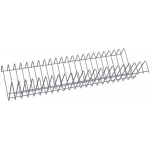 Полка решетчатая для шкафа дезинфекционного ШЗДП-4-1200-02, 1106х237х120мм, для тарелок, вместимость 44шт., пруток нерж.304