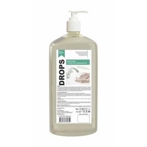Мыло жидкое с антисептическим эффектом Drops 1л с дозатором