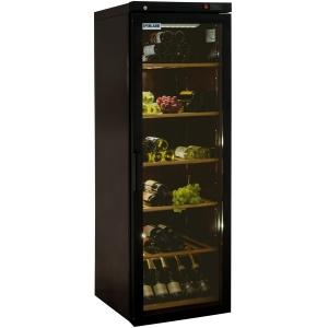 Шкаф холодильный для вина, 1 дверь стекло, 6 полок, ножки, +4/+18С, дин.охл., коричневый