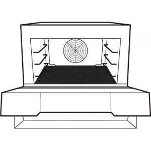 Коврик-вкладыш для печи XESW-03HS-EDDN, 490х372мм, тефлон