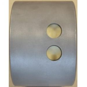 Барабан для аппарата котлетного С/E 652, С/E 653, 2 отверстия D40мм (фрикадельки), нерж.сталь+алюминий
