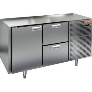 Стол холодильный, GN1/1, L1.39м, без столешницы, 1 дверь глухая+2 ящика, ножки, -2/+10С, нерж.сталь, дин.охл., агрегат справа