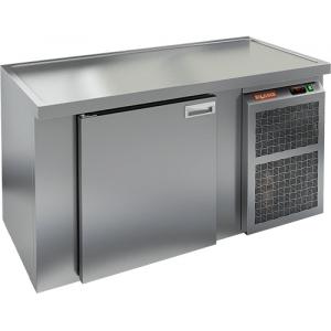 Cтол холодильный для кег и розлива пива, L1.51м, без борта, 1 дверь глухая, ножки, 355л, -2/+10С, нерж.сталь, дин.охл., агрегат правый, 2 кега
