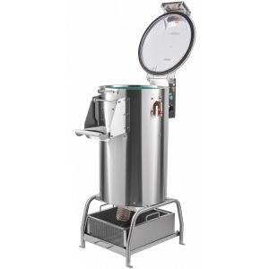 Картофелечистка электрическая, напольная, загрузка 10кг, 150кг/ч, корпус нерж.сталь, 380V, подставка, мезгосборник (Уценённое)